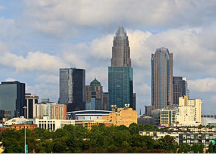 Charlotte Greeting Card featuring the photograph Charlotte Panorama IIi by Gene Berkenbile