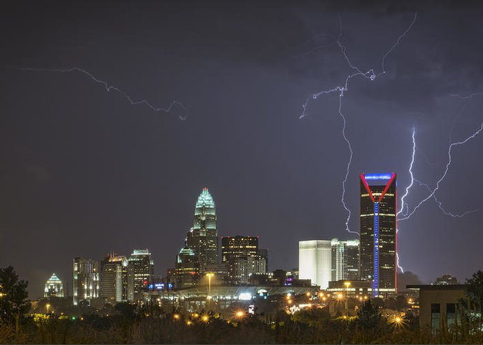 Charlotte Greeting Card featuring the photograph Charlotte's Storm by Brian Young
