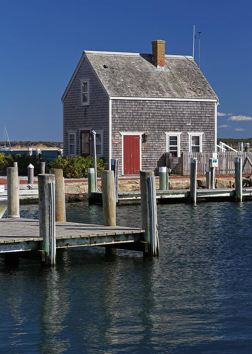 Edgartown Greeting Card featuring the photograph Charming Edgartown Harbor by Juergen Roth