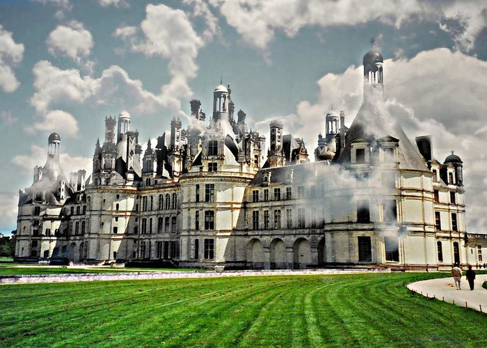 Castle Greeting Card featuring the photograph Chateau De Chenonceau by Diana Angstadt