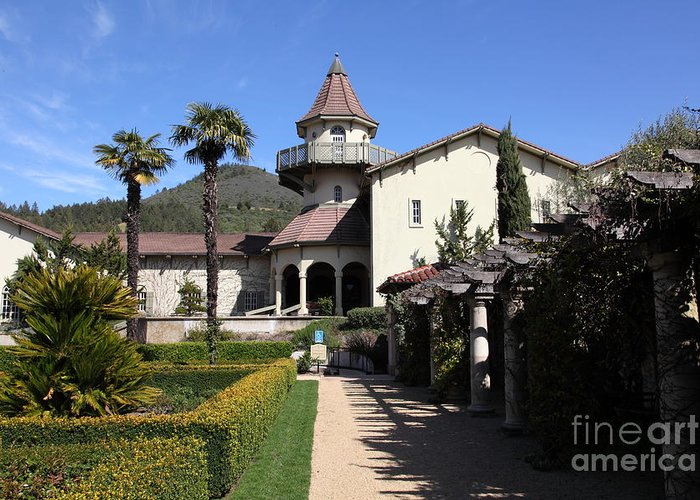 Sonoma Greeting Card featuring the photograph Chateau St. Jean Winery 5d22199 by Wingsdomain Art and Photography