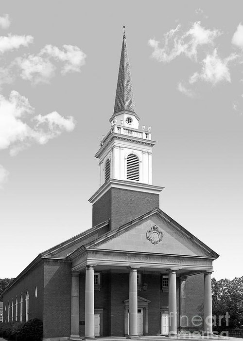 Campbell Memorial Chapel Greeting Card featuring the photograph Chatham University Campbell Memorial Chapel by University Icons