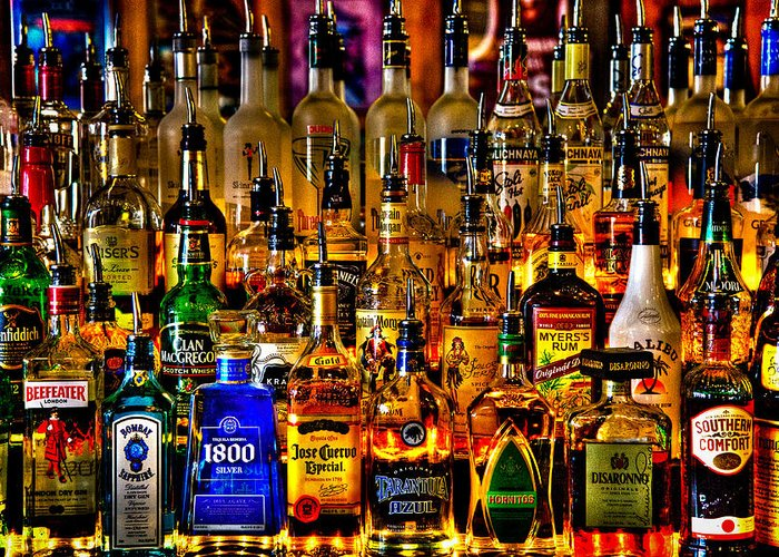 Booze Greeting Card featuring the photograph Cheers - Alcohol Galore by David Patterson