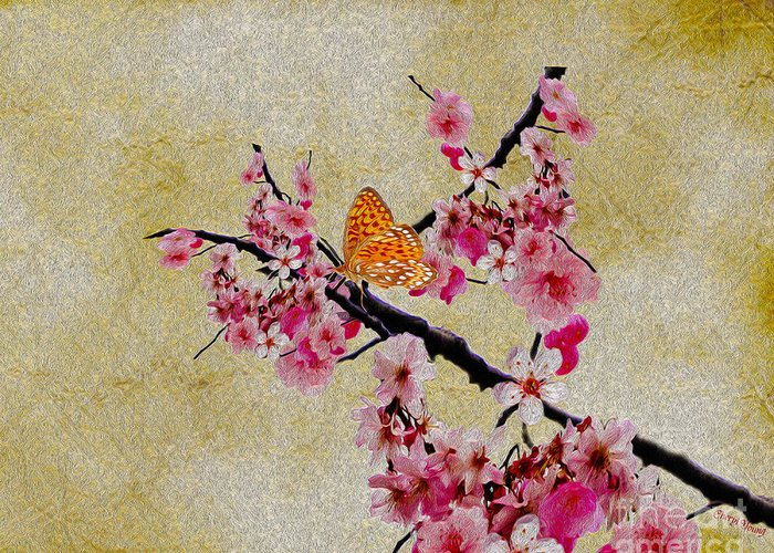 Cherry Greeting Card featuring the photograph Cherry Blossoms by Cheryl Young