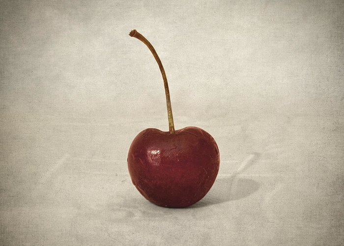 Cherry Greeting Card featuring the photograph Cherry by Taylan Apukovska