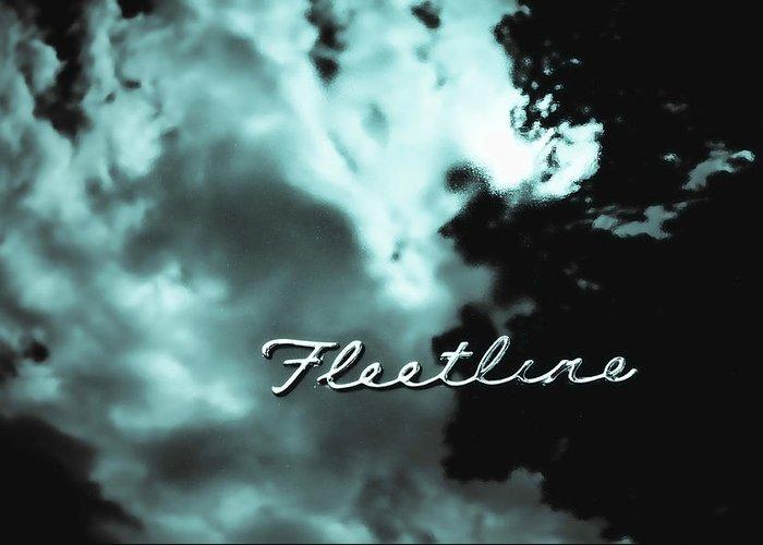 Fleetline Emblem Greeting Card featuring the photograph Chevrolet Fleetline by Phil 'motography' Clark