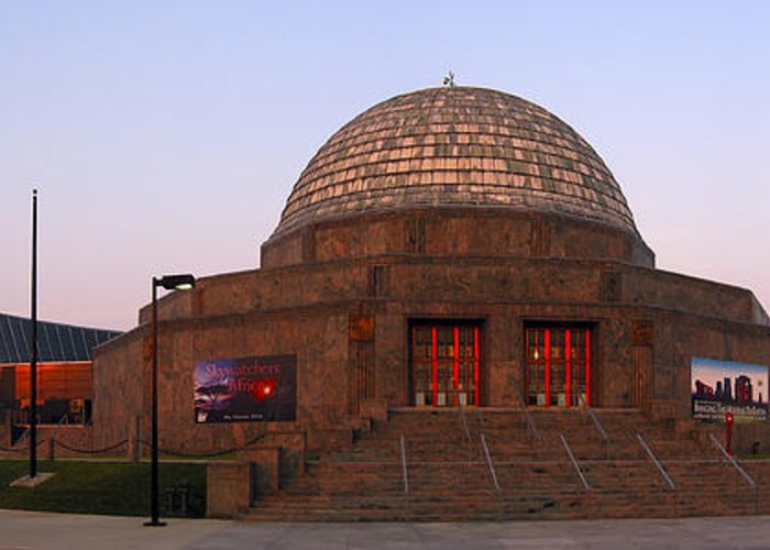 3scape Photos Greeting Card featuring the photograph Chicago's Adler Planetarium by Adam Romanowicz