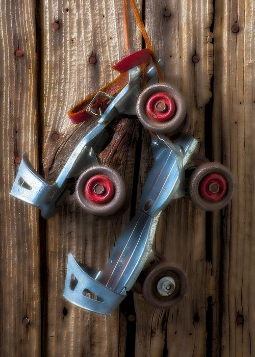 Old Roller Skates Greeting Card featuring the photograph Childhood Skates by Garry Gay