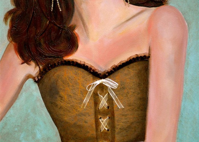 Chocolate Romance Greeting Card featuring the painting Chocolate Romance by Debi Starr
