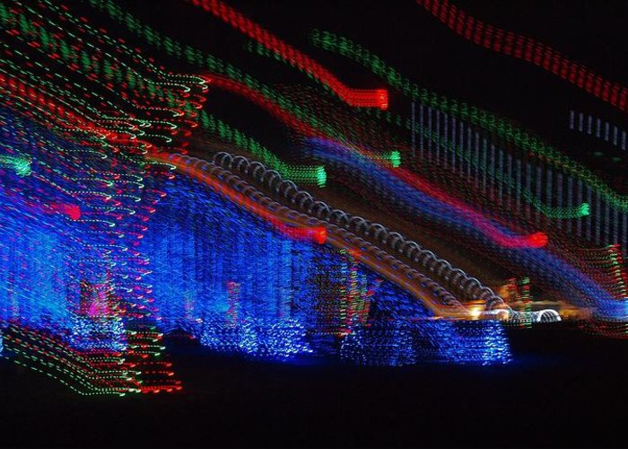 Christmas Lights Greeting Card featuring the photograph Christmas Lights by Dan Sproul