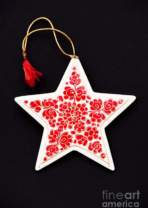 5 Greeting Card featuring the photograph Christmas Star by Anne Gilbert