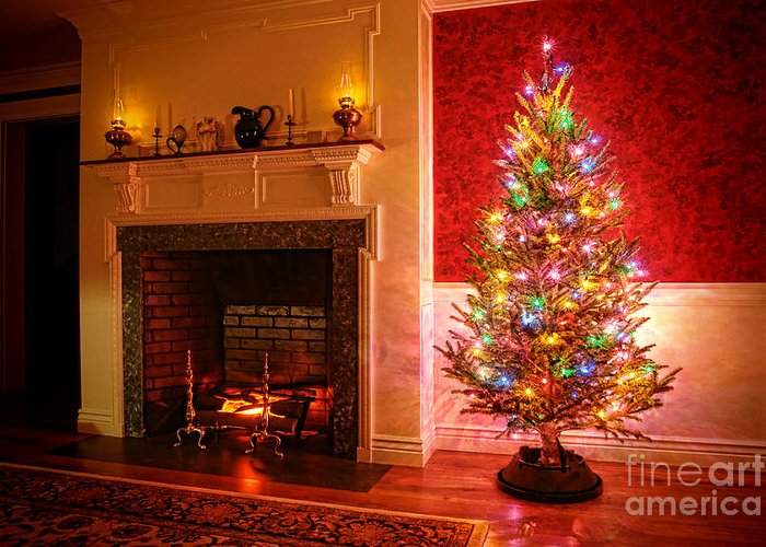Christmas Tree Greeting Card featuring the photograph Christmas Tree by Olivier Le Queinec