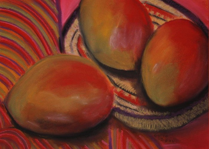 Mangos Paintings Greeting Card featuring the painting Cinco De Mayo by Gitta Brewster
