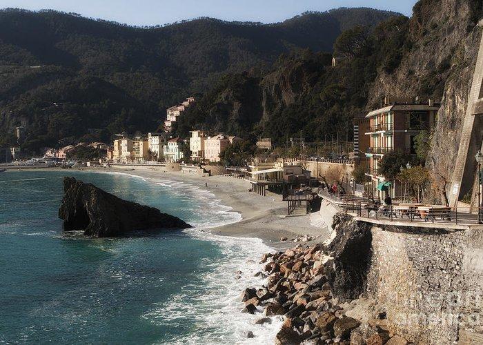 La Spezia Greeting Card featuring the photograph Cinque Terre by Leslie Leda