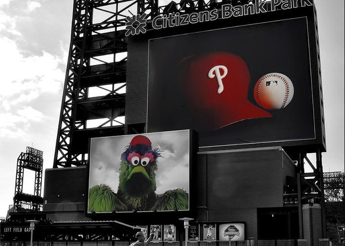 Citizens Bank Park Philadelphia Greeting Card featuring the photograph Citizens Bank Park Philadelphia by Bill Cannon
