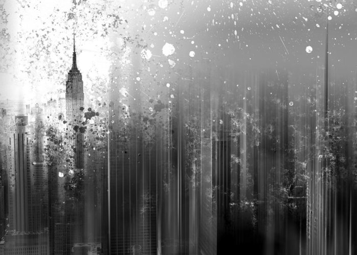 Usa Greeting Card featuring the photograph City-art Ny Manhattan by Melanie Viola