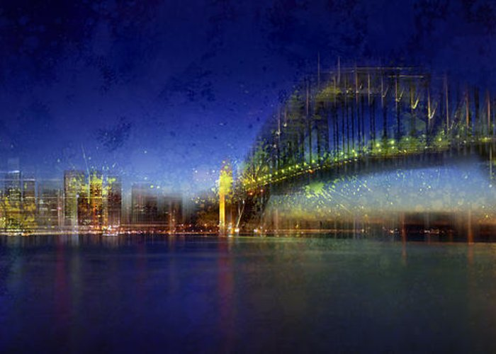 Colorspot Greeting Card featuring the photograph City-art Sydney by Melanie Viola