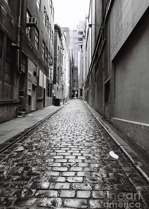 City Greeting Card featuring the photograph City Lane Melbourne by Linda Lees