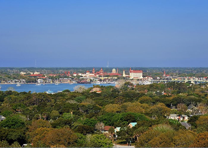 St Greeting Card featuring the photograph City Of St Augustine Florida by Christine Till