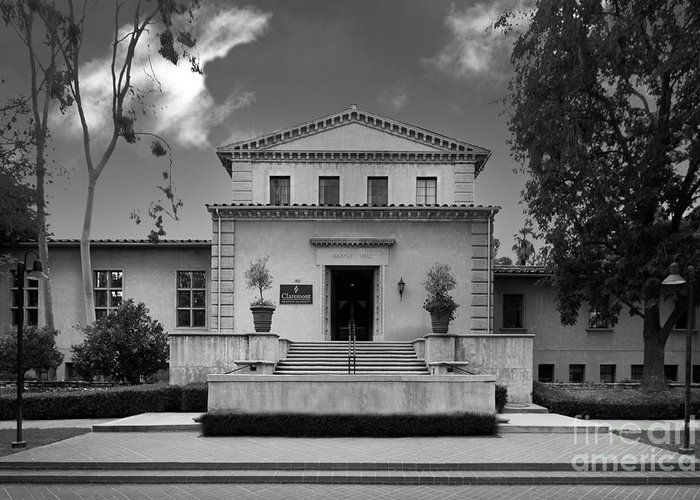 Cgu Greeting Card featuring the photograph Claremont Graduate University Harper Hall by University Icons