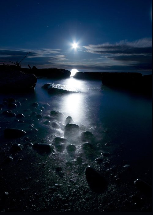 Moon Greeting Card featuring the photograph Clearville Moonrise by Cale Best