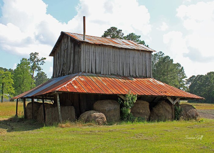 Tobacco Barn Greeting Card featuring the photograph Clewis Family Tobacco Barn by Suzanne Gaff