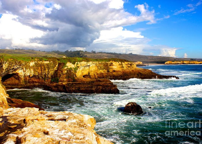 Landscape Greeting Card featuring the photograph Cliffs by Shannan Peters