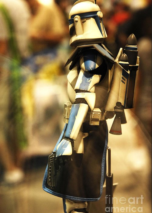 Star Wars Greeting Card featuring the photograph Clone Trooper by Micah May