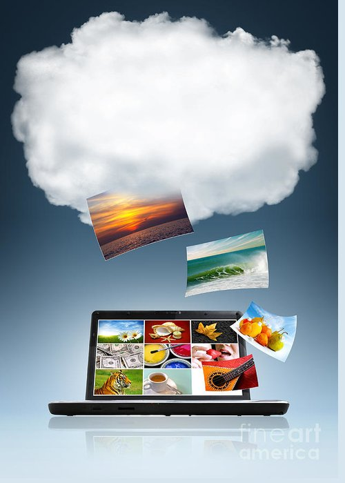 Access Greeting Card featuring the photograph Cloud Technology by Carlos Caetano