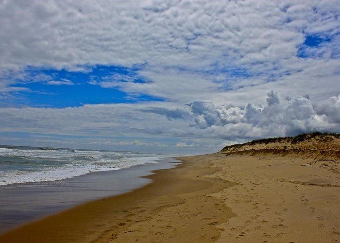 Coast Guard Beach Greeting Card featuring the photograph Coast Guard Beach by Amazing Jules