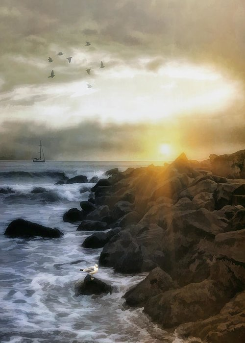 Seascape Greeting Card featuring the photograph Coastal Sunrise by Tom York Images