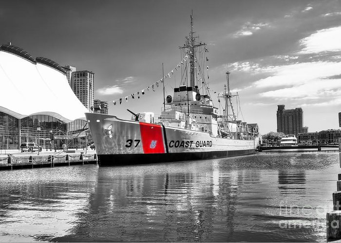 Coastguard Greeting Card featuring the photograph Coastguard Cutter by Scott Hansen