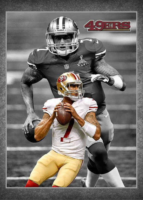 Colin Kaepernick Greeting Card featuring the photograph Colin Kaepernick 49ers by Joe Hamilton