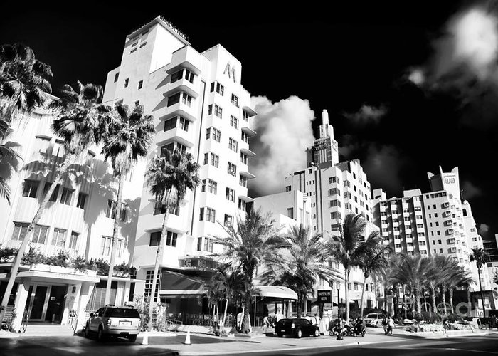 Collins Avenue Greeting Card featuring the photograph Collins Avenue by John Rizzuto