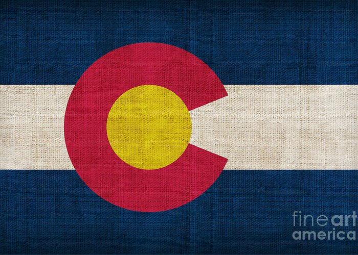 Colorado Greeting Card featuring the painting Colorado State Flag by Pixel Chimp