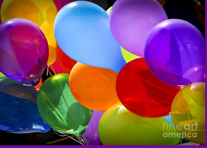 Balloons Greeting Card featuring the photograph Colorful Balloons by Elena Elisseeva
