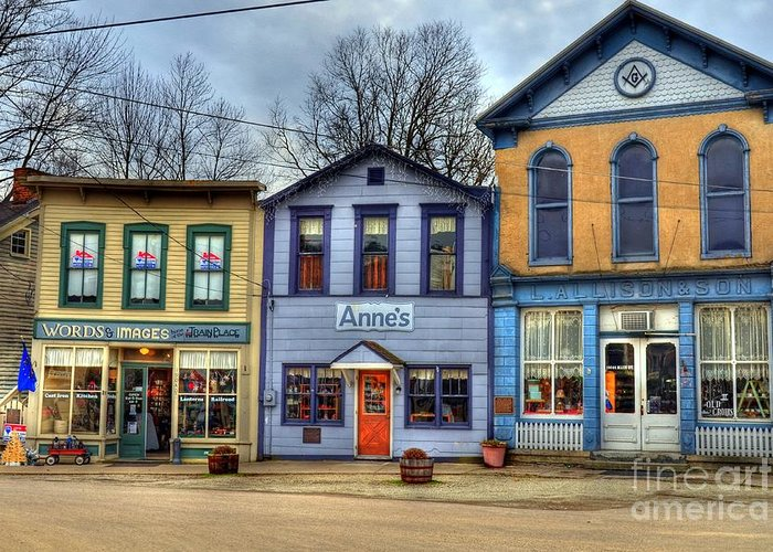 Metamora Greeting Card featuring the photograph Colors Of Metamora 2 by Mel Steinhauer