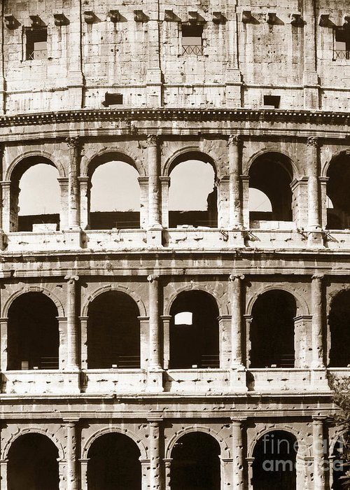 20th Century Greeting Card featuring the photograph Colosseum by Granger