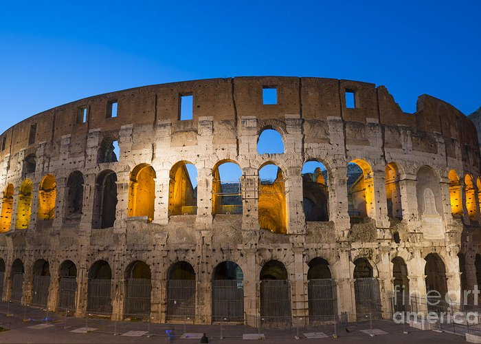 Colosseum Greeting Card featuring the photograph Colosseum by Mats Silvan
