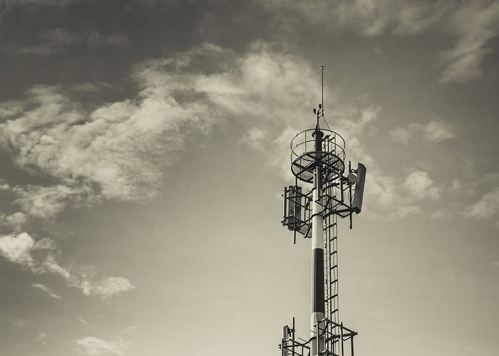 Tower Greeting Card featuring the photograph Communication Tower by Marco Oliveira