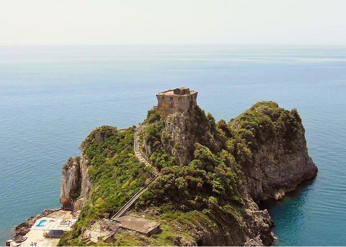 Amalfi Coast Greeting Card featuring the photograph Concu Dei Marini Amalfi by Marilyn Dunlap