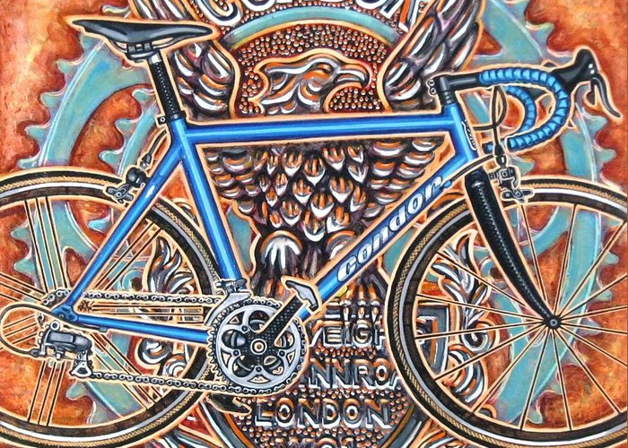 Bicycle Greeting Card featuring the painting Condor Baracchi by Mark Howard Jones