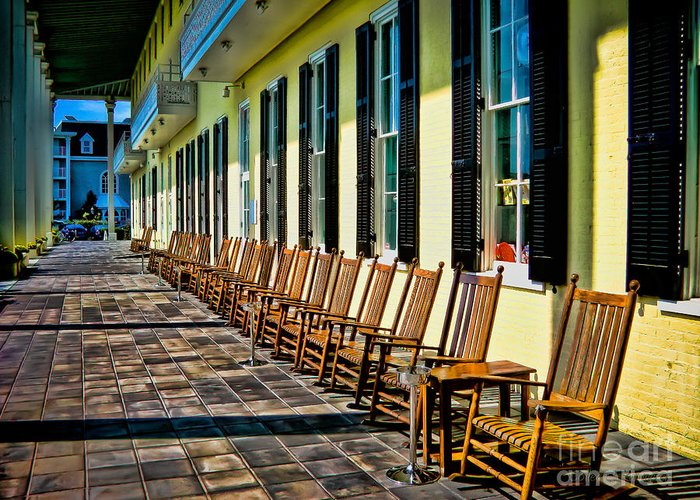 Rocking Chairs Greeting Card featuring the photograph Congress Hall Rockers by Colleen Kammerer