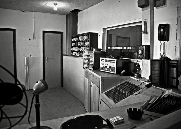 Control Greeting Card featuring the photograph Control Room In Alcatraz Prison by RicardMN Photography