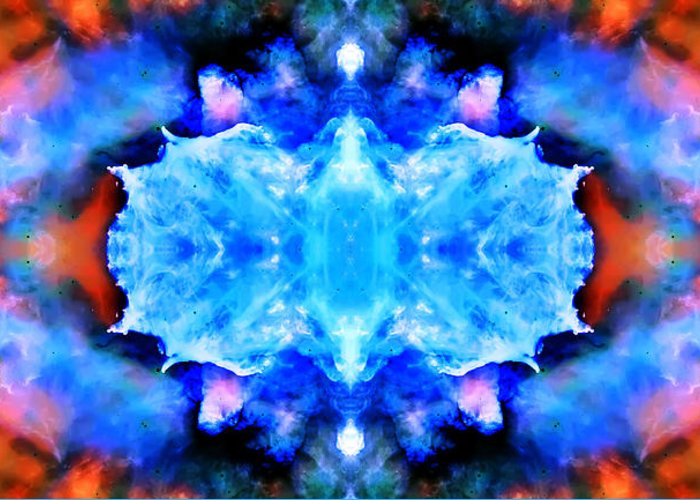 Universe Greeting Card featuring the photograph Cosmic Kaleidoscope 1 by The Vault - Jennifer Rondinelli Reilly