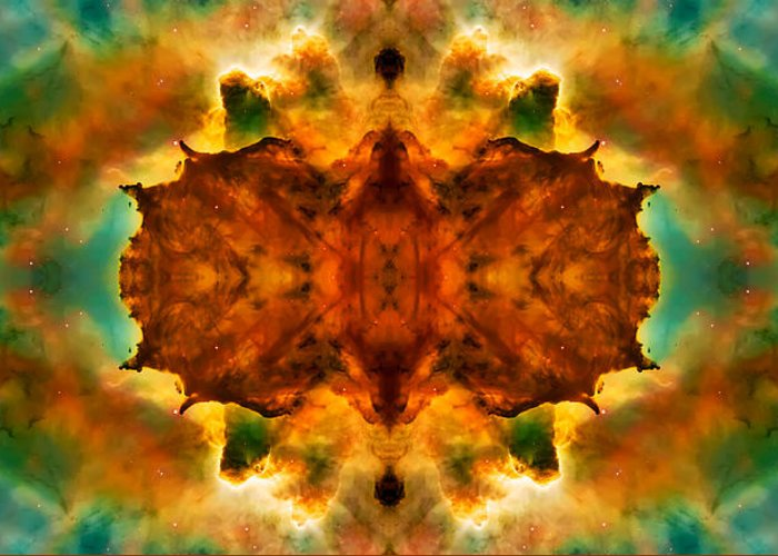 Universe Greeting Card featuring the photograph Cosmic Kaleidoscope 2 by The Vault - Jennifer Rondinelli Reilly