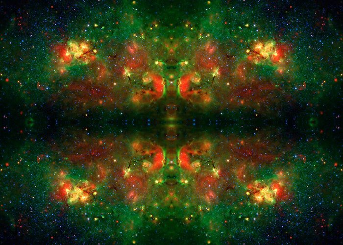 Universe Greeting Card featuring the photograph Cosmic Kaleidoscope 3 by Jennifer Rondinelli Reilly - Fine Art Photography