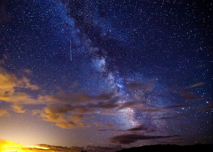Milky Way Greeting Card featuring the photograph Cosmic Traveler by Darren White