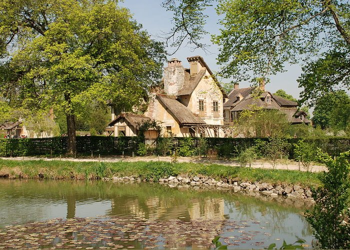 Cottage Greeting Card featuring the photograph Cottage In The Hameau De La Reine by Jennifer Ancker