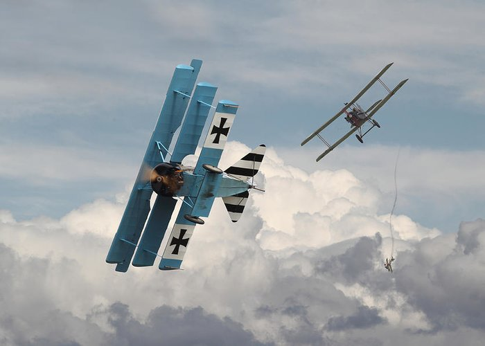 Aircraft Greeting Card featuring the digital art Counterstrike by Pat Speirs